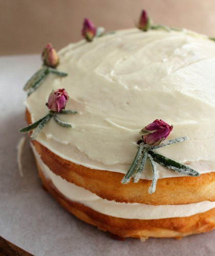 The delicate pear, punchy parsnip and aromatic rosemary make this an amazing cake!